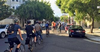 Wiggle Protest for BIke Yield Law