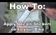 Embedded thumbnail for How to Put Decals on a Bike Frame