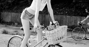 Classy Babe on a Bike