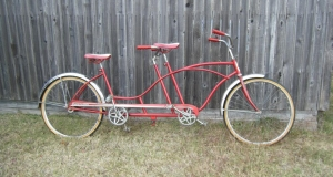 Sweet Old Huffy Tandem in Red